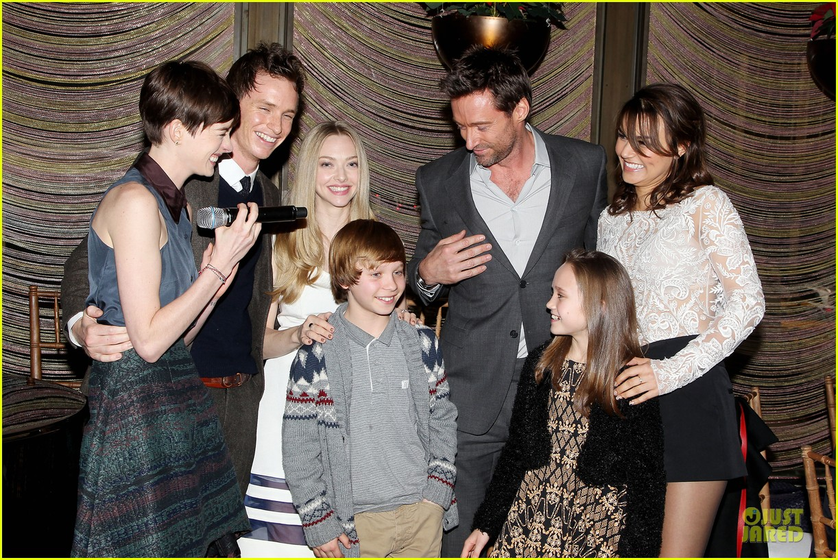 hugh jackman & eddie redmayne les miserables luncheon 382774036