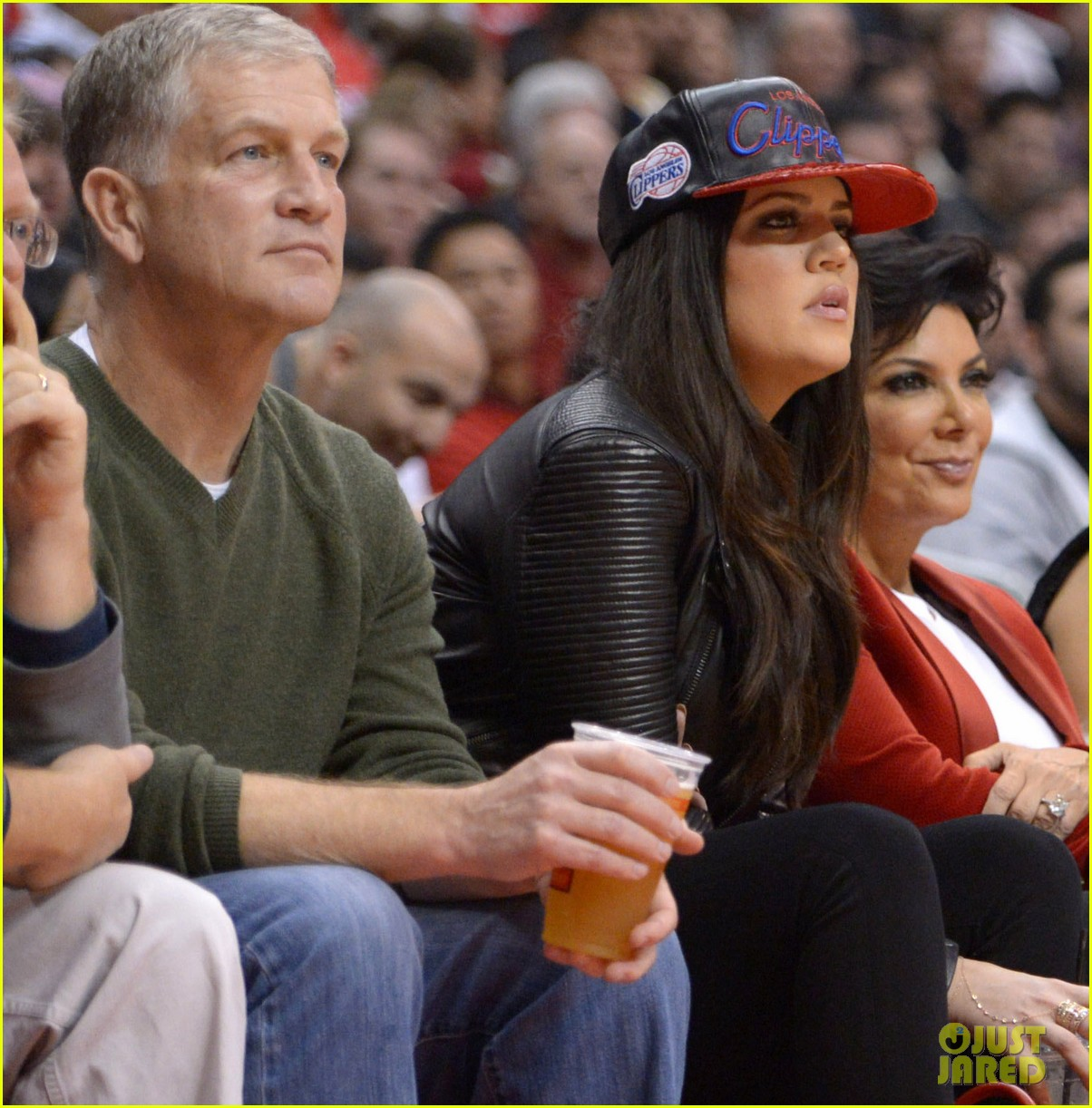 kim kardashian kanye west christmas clippers game 03