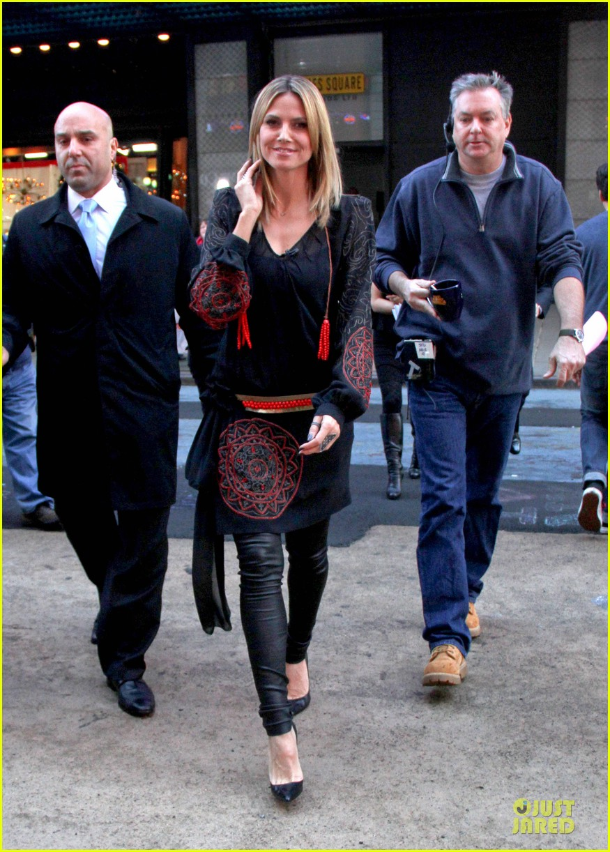 heidi klum good morning america appearance 012769235