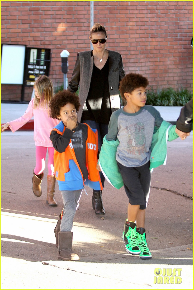 heidi klum martin kirsten lunch groceries with the kids 082781255