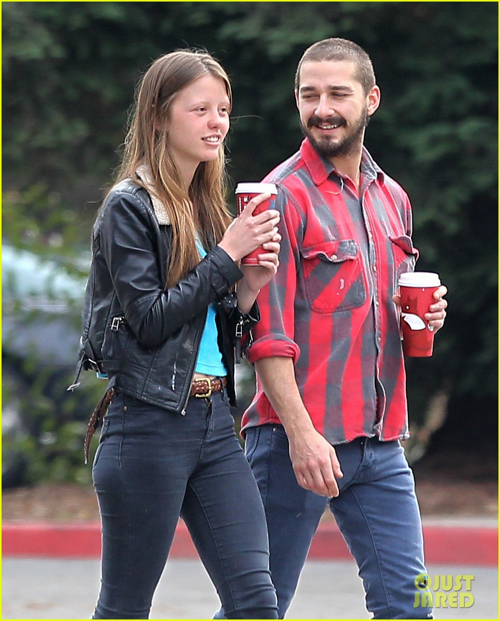 Shia LaBeouf with charming, Girlfriend Mia Goth