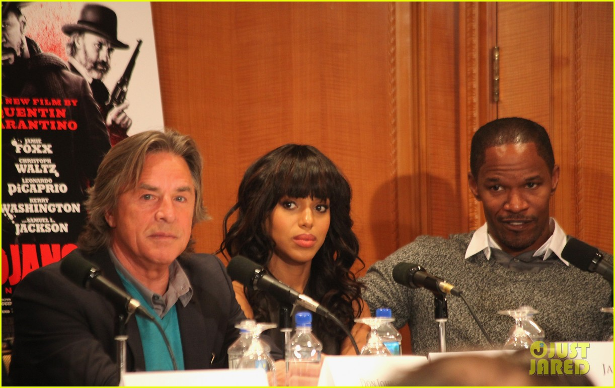 leonardo dicaprio kerry washington django unchained press conference 05