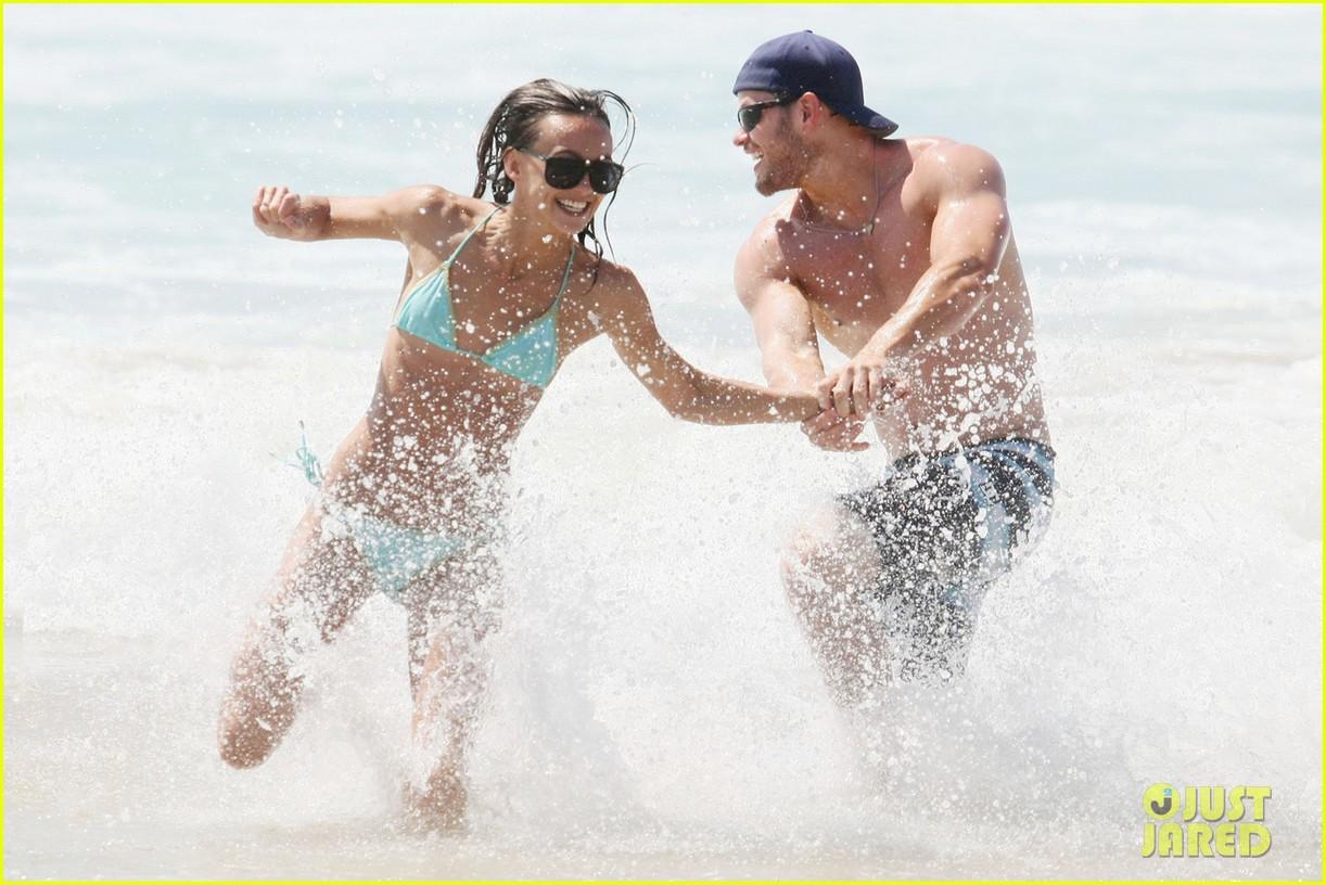 kellan lutz shirtless beach day with sharni vinson 032780290