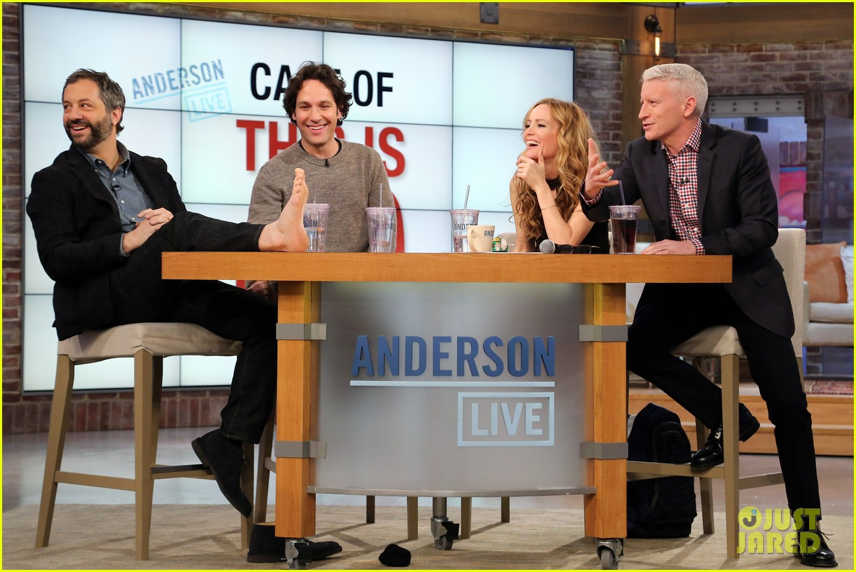 leslie mann paul rudd this is 40 crew visits anderson live 07