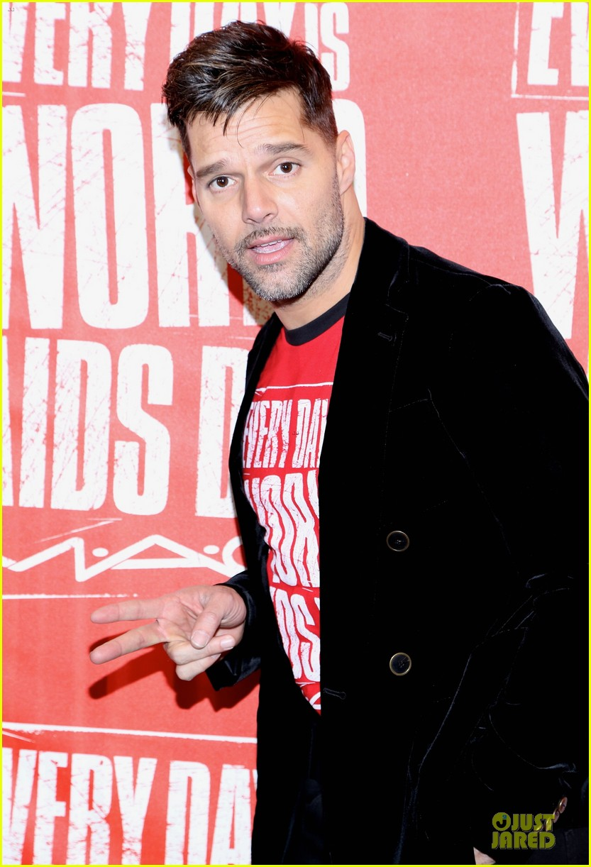 ricky martin world aids day event 07