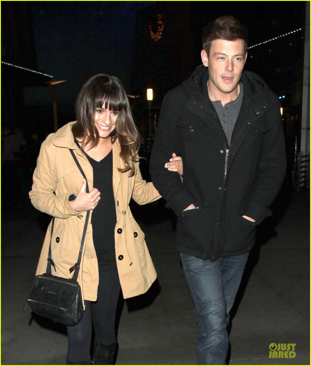 lea michele & cory monteith argo movie date 02