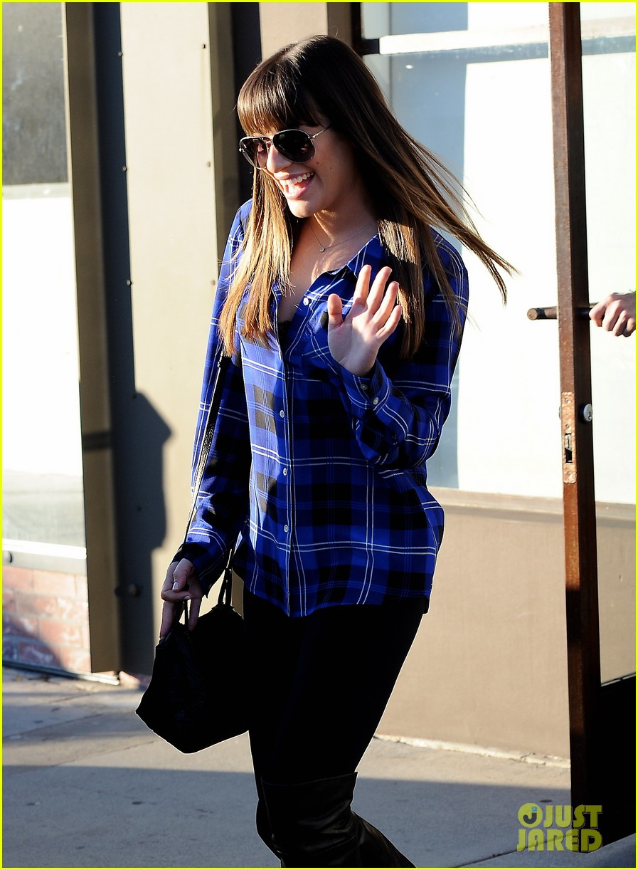 lea michele hair salon with mom edith 10