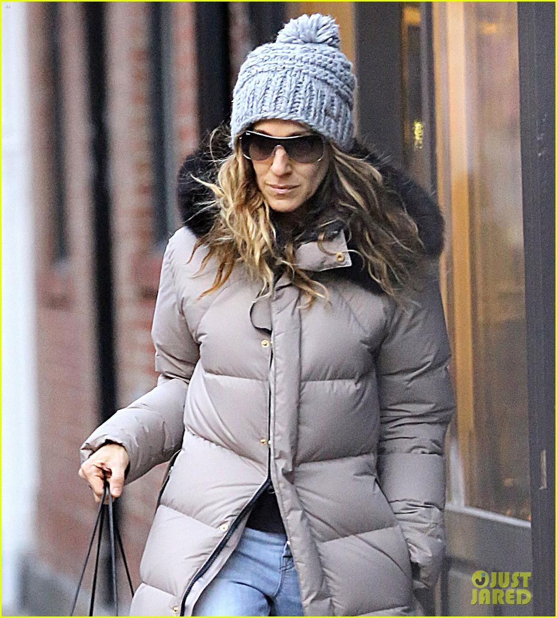 sarah jessica parker post christmas shopping 01
