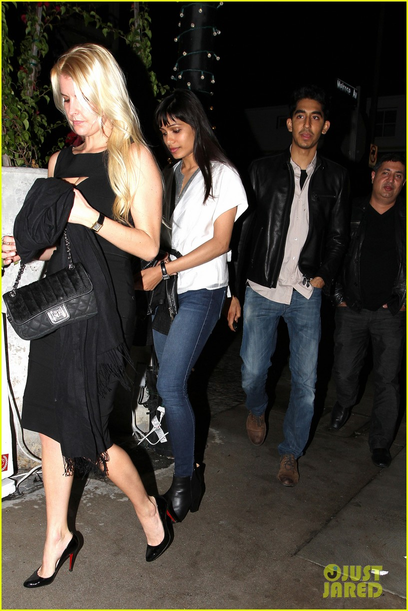 freida pinto dev patel red o dinner with pals 01