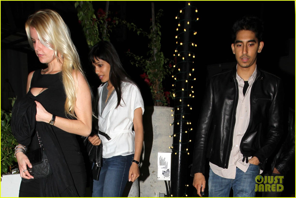 freida pinto dev patel red o dinner with pals 06