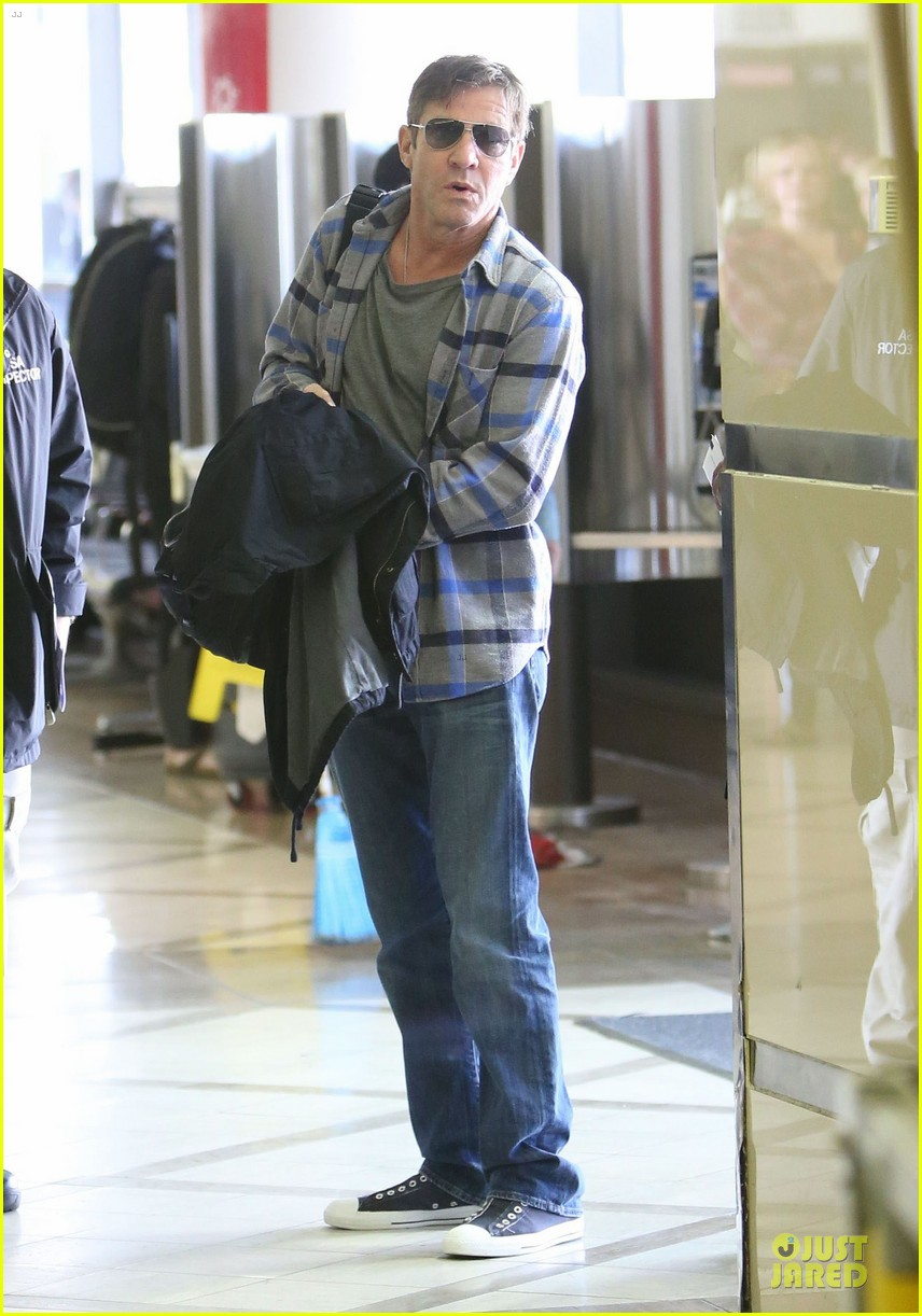 dennis quaid lax departure with a mystery woman 11