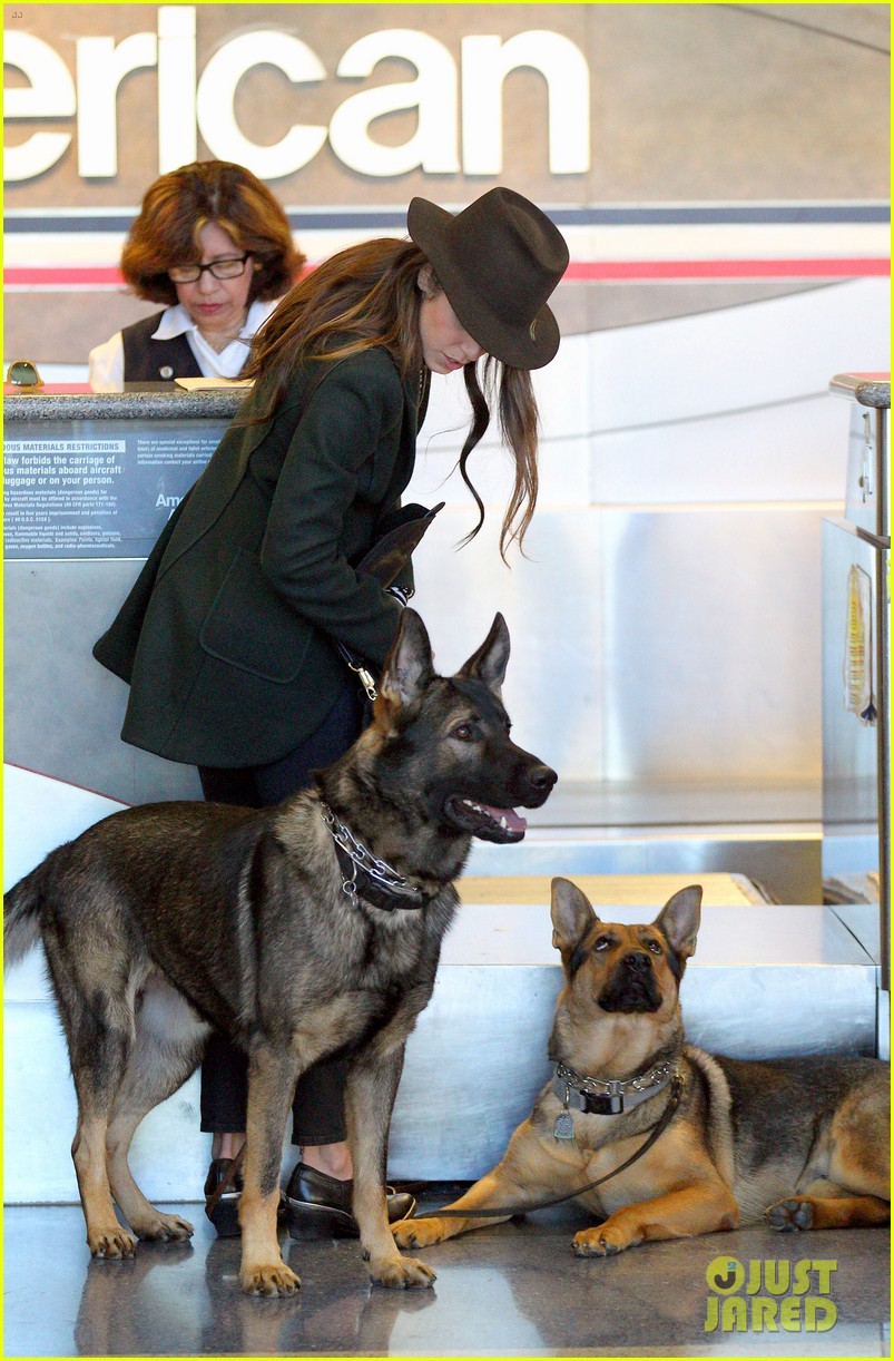 nikki reed paul mcdonald airport with pups 11