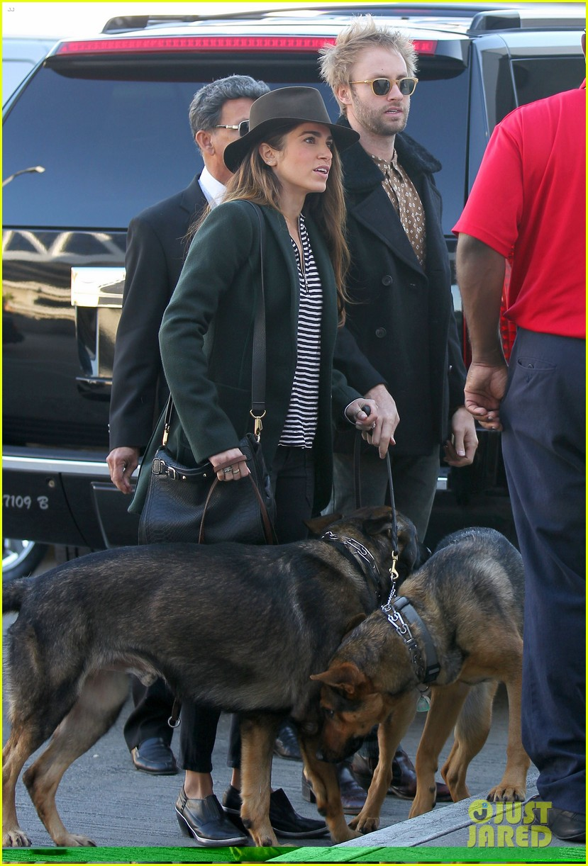 nikki reed paul mcdonald airport with pups 122773477
