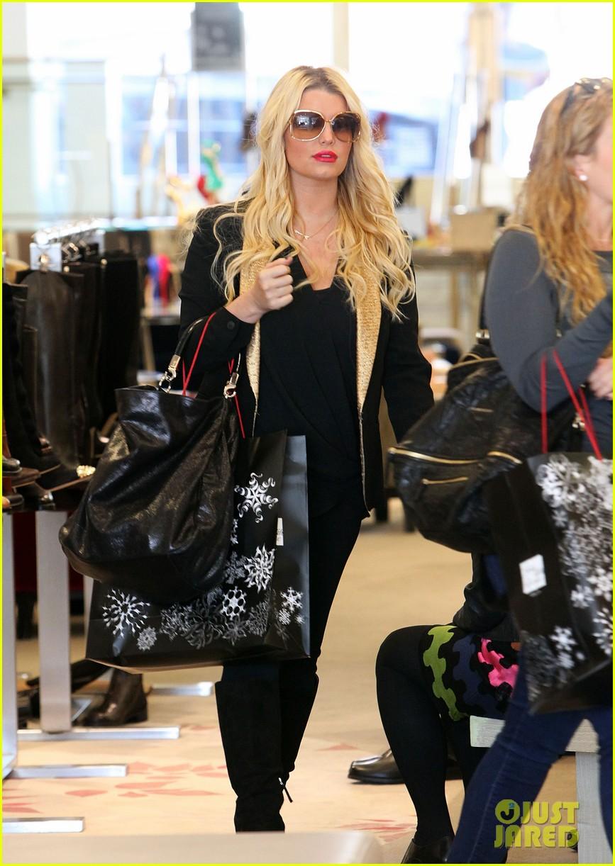 jessica simpson saks shopping spree in stilettos 072773202