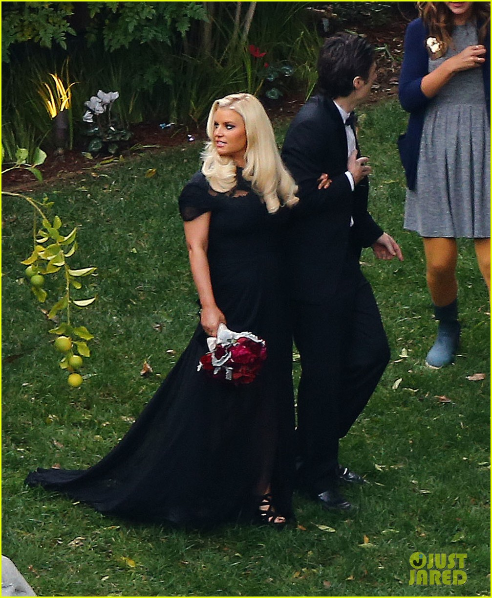 jessica simpson bridesmaid at cacee cobb wedding 05
