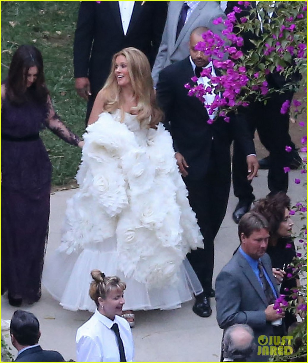 jessica simpson bridesmaid at cacee cobb wedding 06
