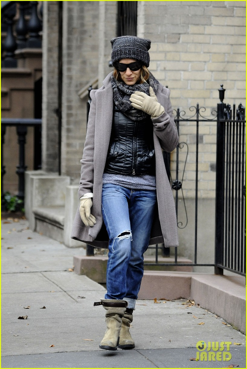 sarah jessica parker school stop with son james 05