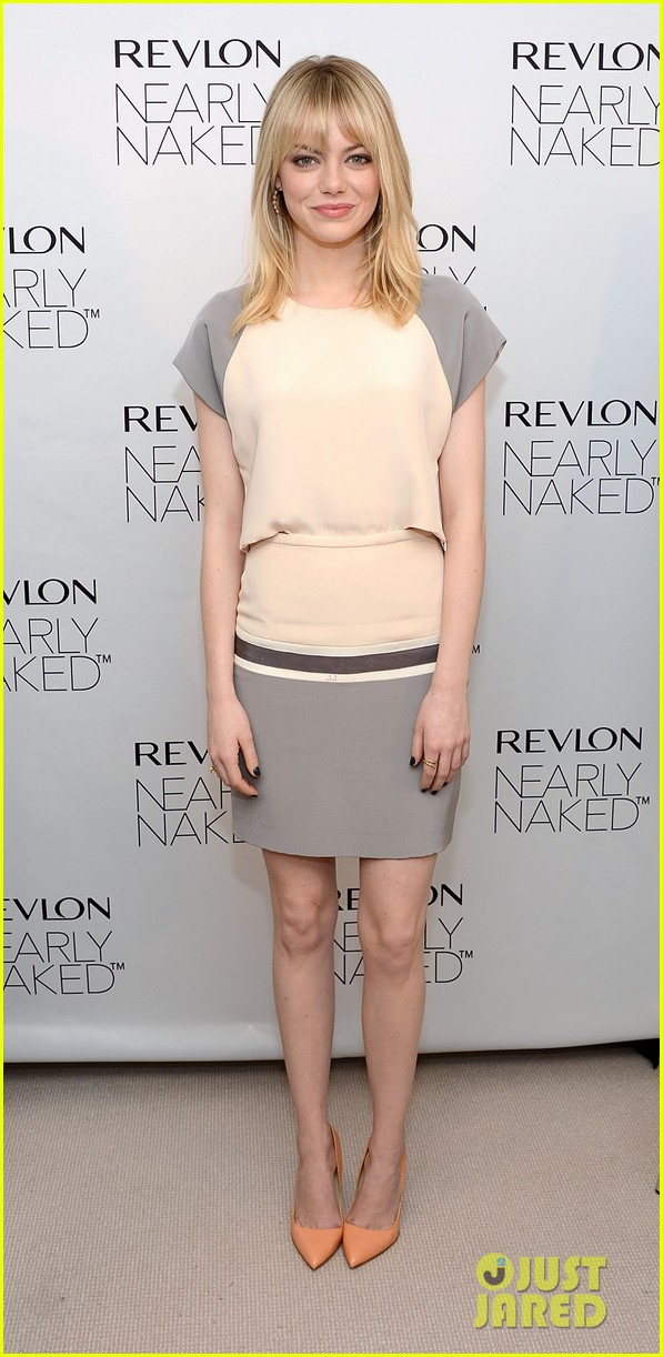 emma stone revlons nearly naked makeup launch 01