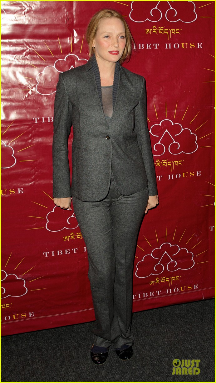 uma thurman tibet house benefit auction 01