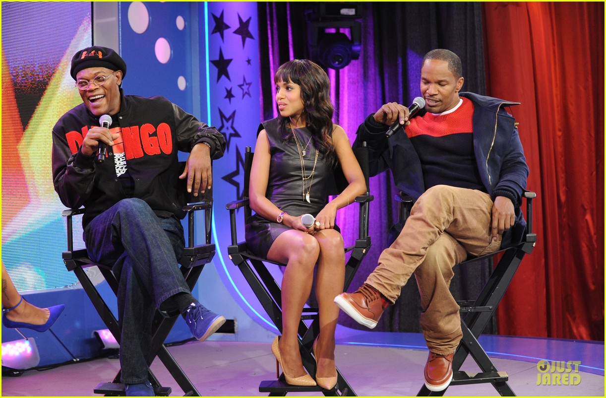 kerry washington & jamie foxx 106 & park appearance 22
