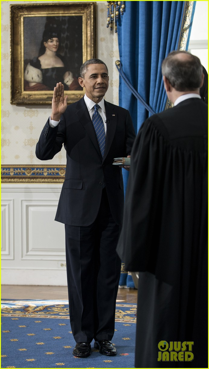 president barack obama sworn into office launches second term 11