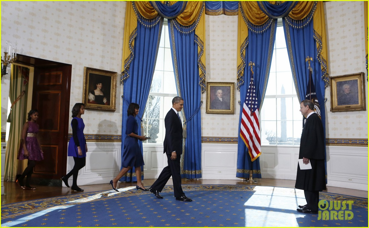 president barack obama sworn into office launches second term 16