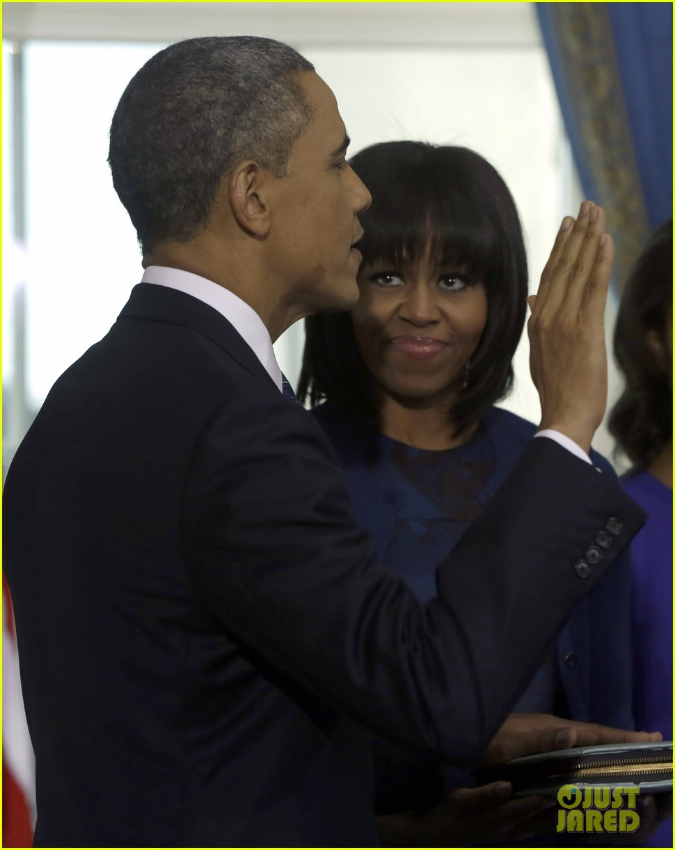 president barack obama sworn into office launches second term 21