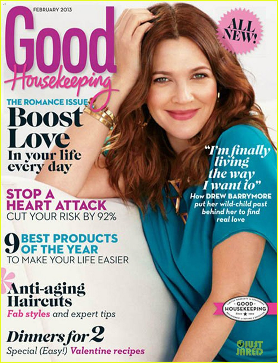 drew barrymore covers good housekeeping magazine february 2013 01