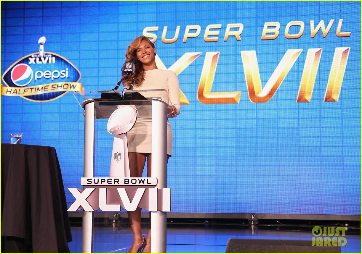 beyonce national anthem live at super bowl press conference 17