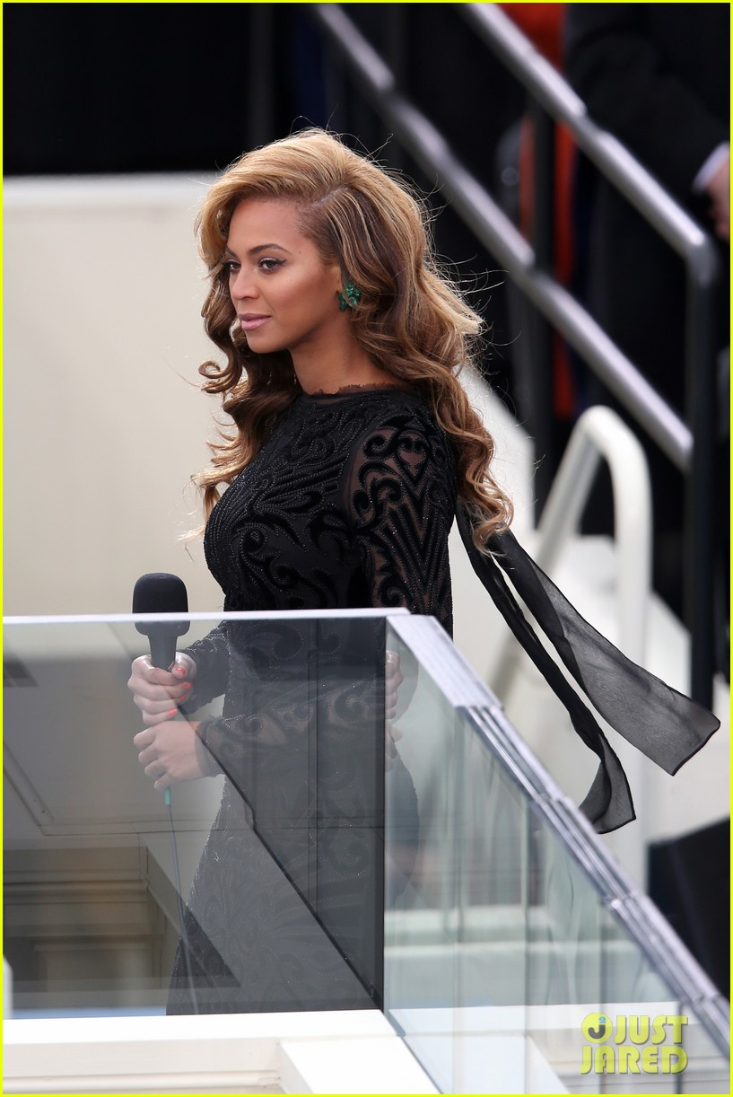 beyonce national anthem inauguration performance watch now 01