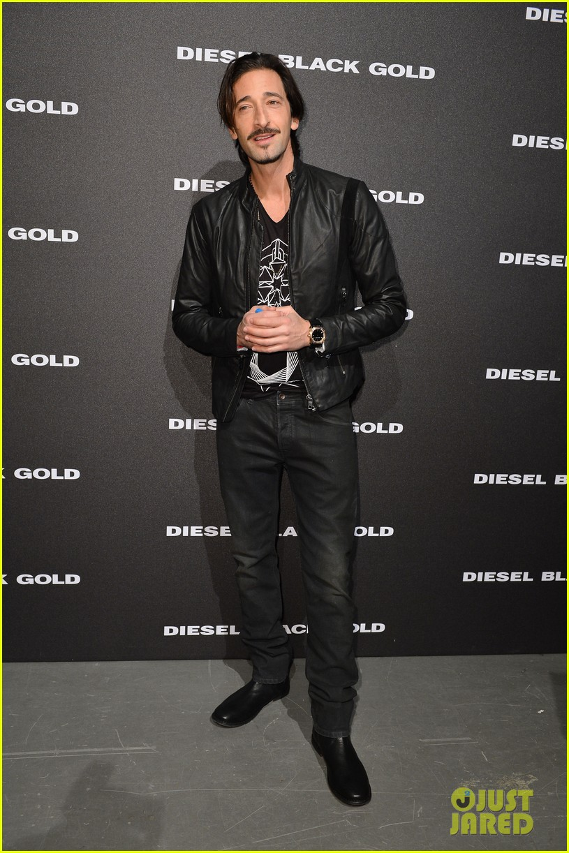 Full Sized Photo of adrien brody luke evans diesel milan ...