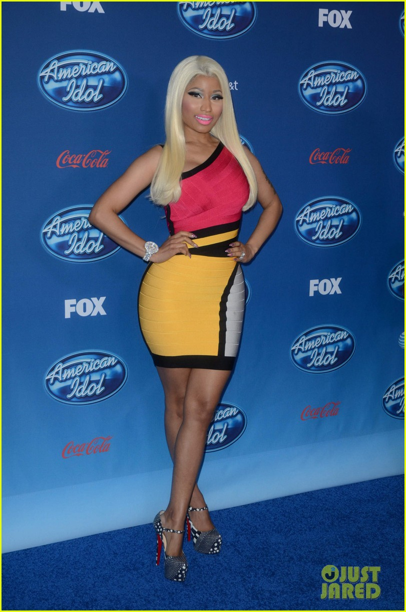 mariah carey nicki minaj american idol premiere screening 01