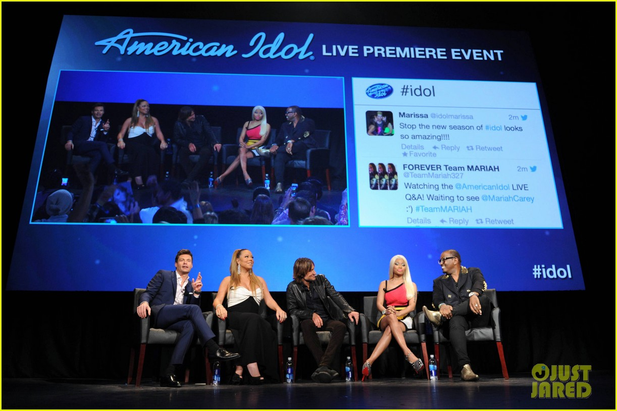 mariah carey nicki minaj american idol premiere screening 19