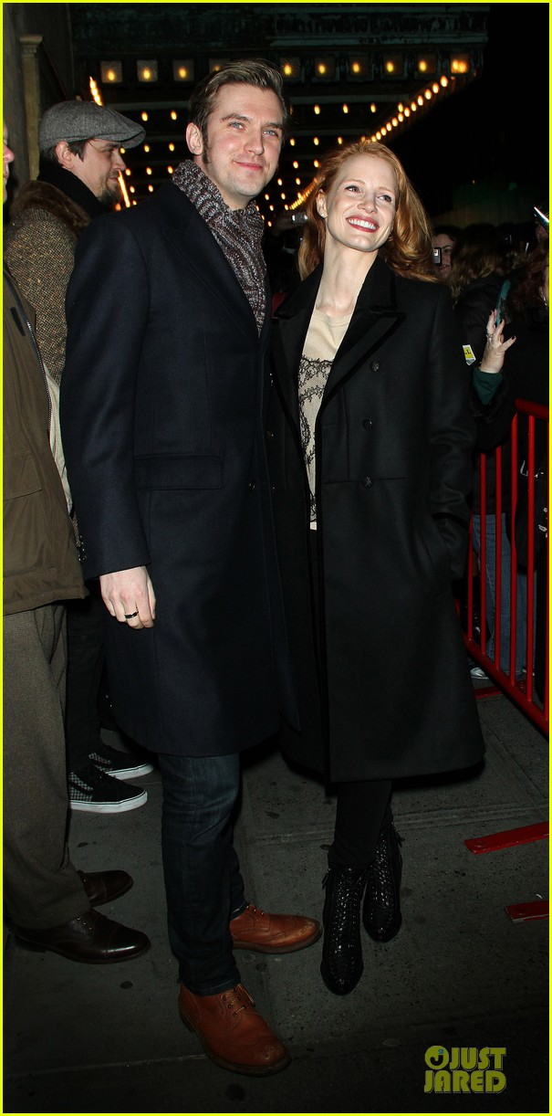 jessica chastain & dan stevens heiress autograph signing 05