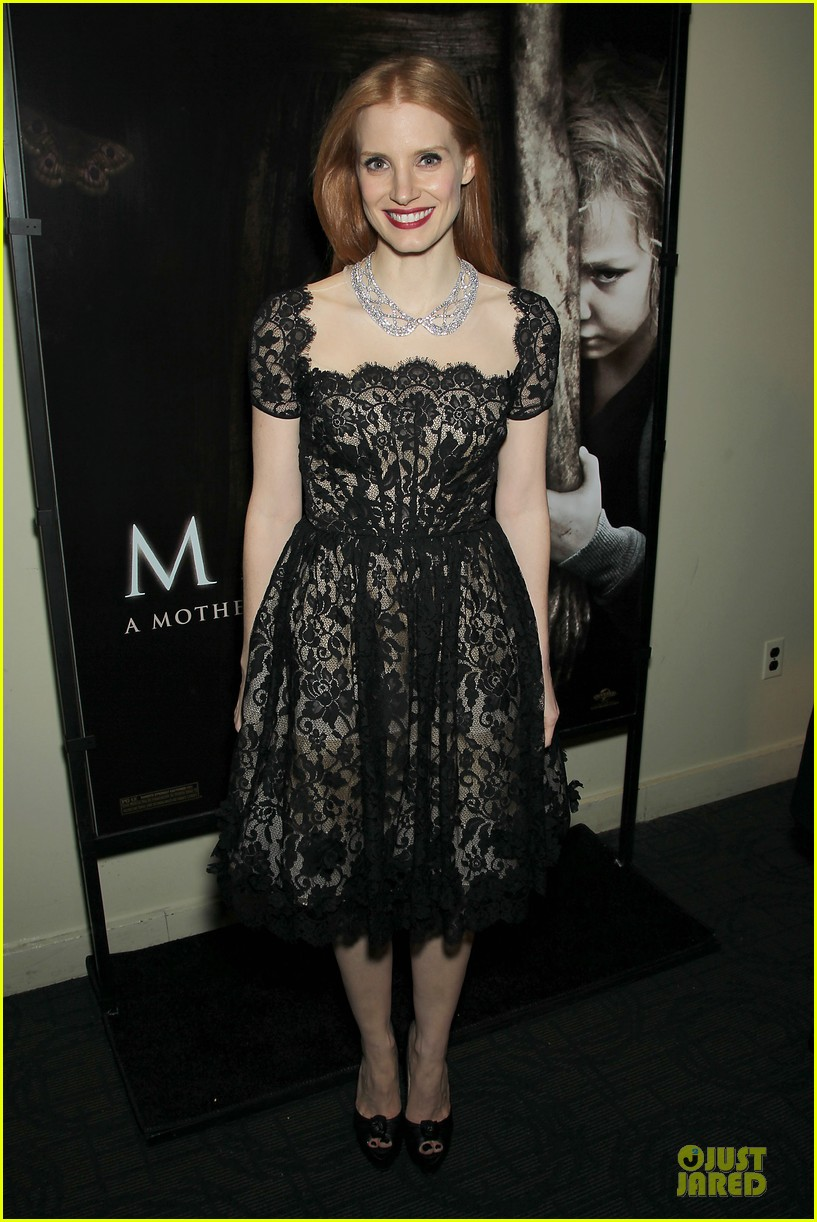 jessica chastain mama new york screening 20