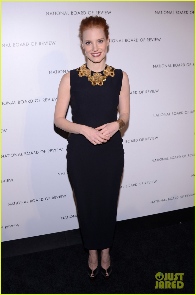 jessica chastain national board of review awards gala 2013 01