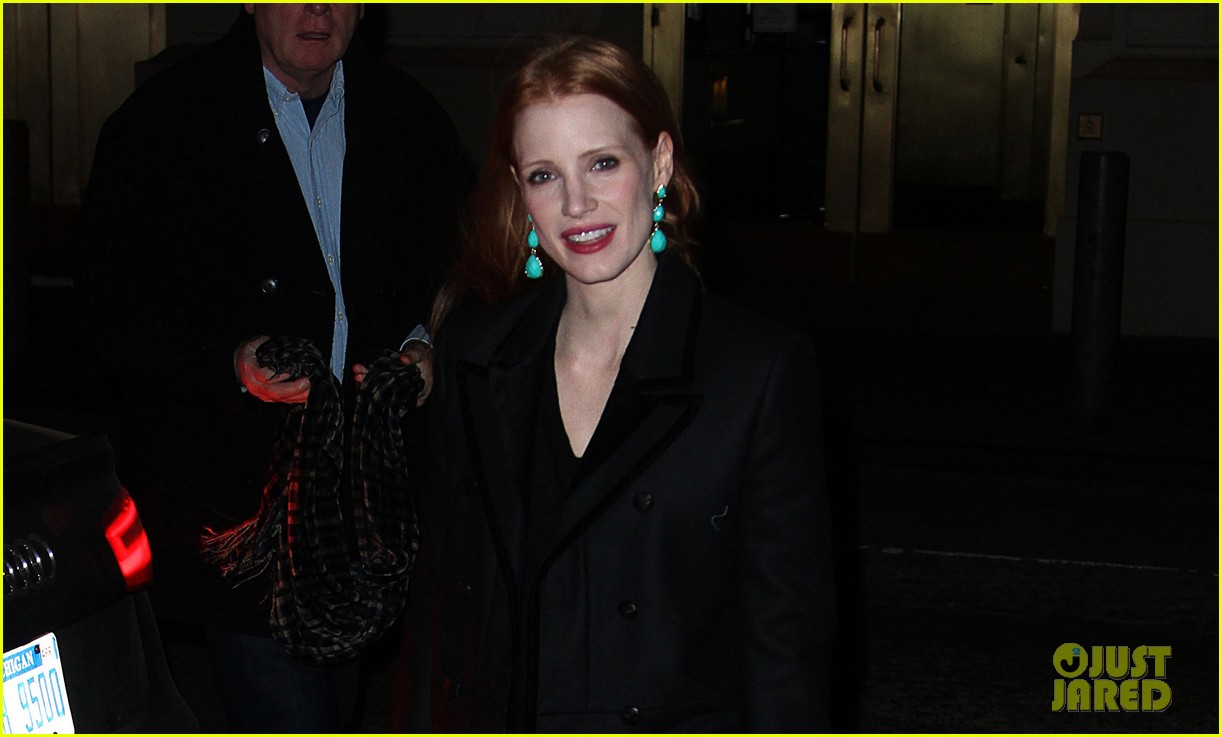 jessica chastain back to work after new years eve 02