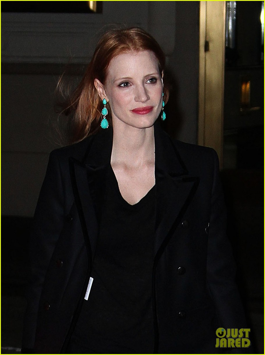jessica chastain back to work after new years eve 04