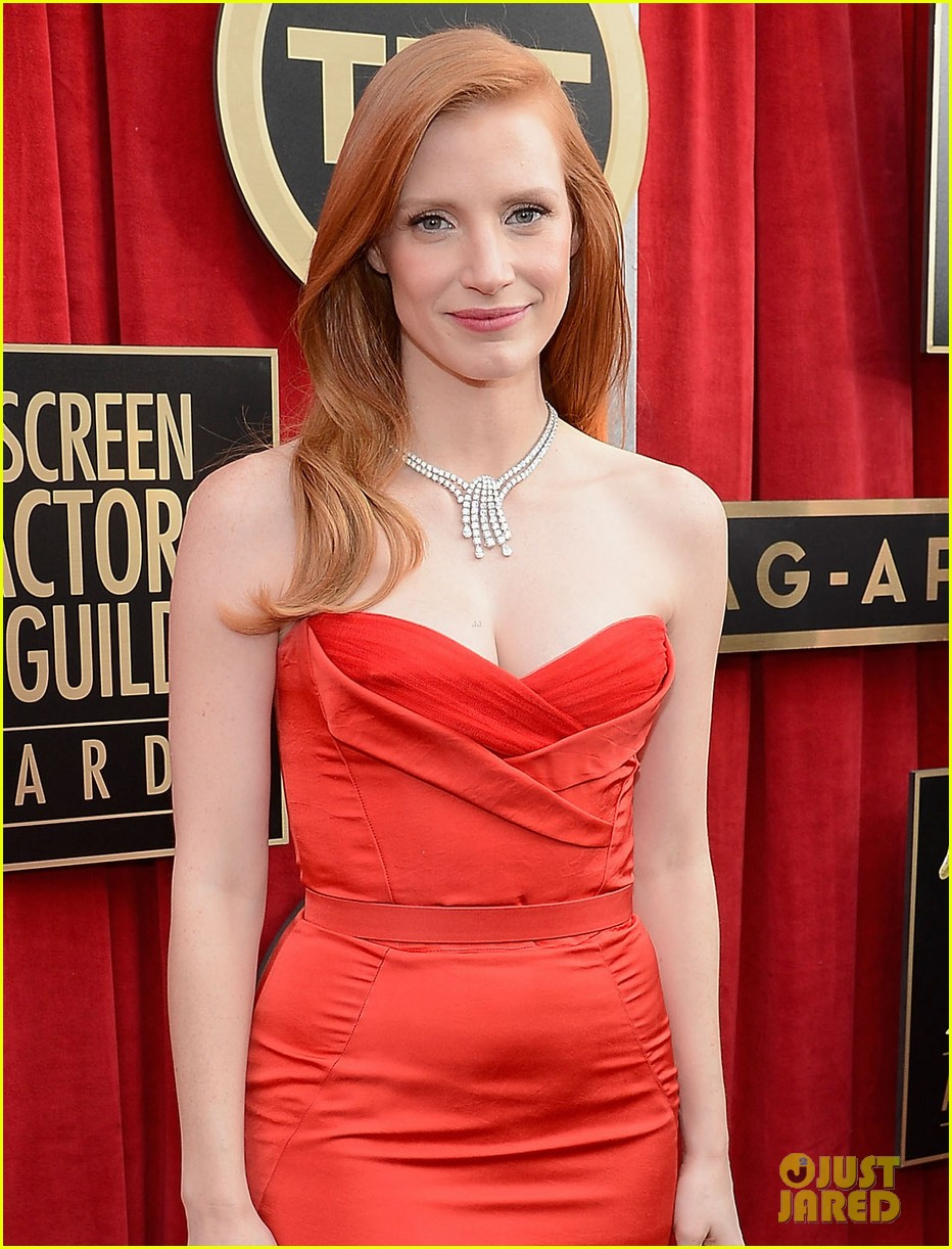 jessica chastain sag awards 2013 02