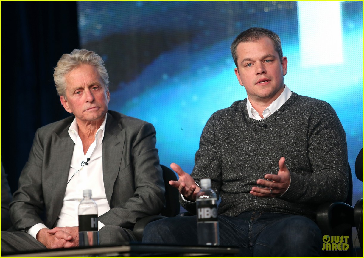 matt damon & michael douglas behind the candlebra tca panel 06