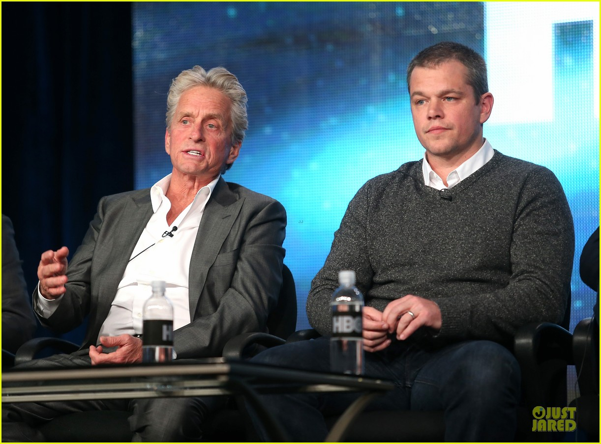 matt damon & michael douglas behind the candlebra tca panel 13