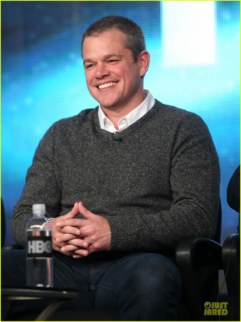 matt damon & michael douglas behind the candlebra tca panel 16