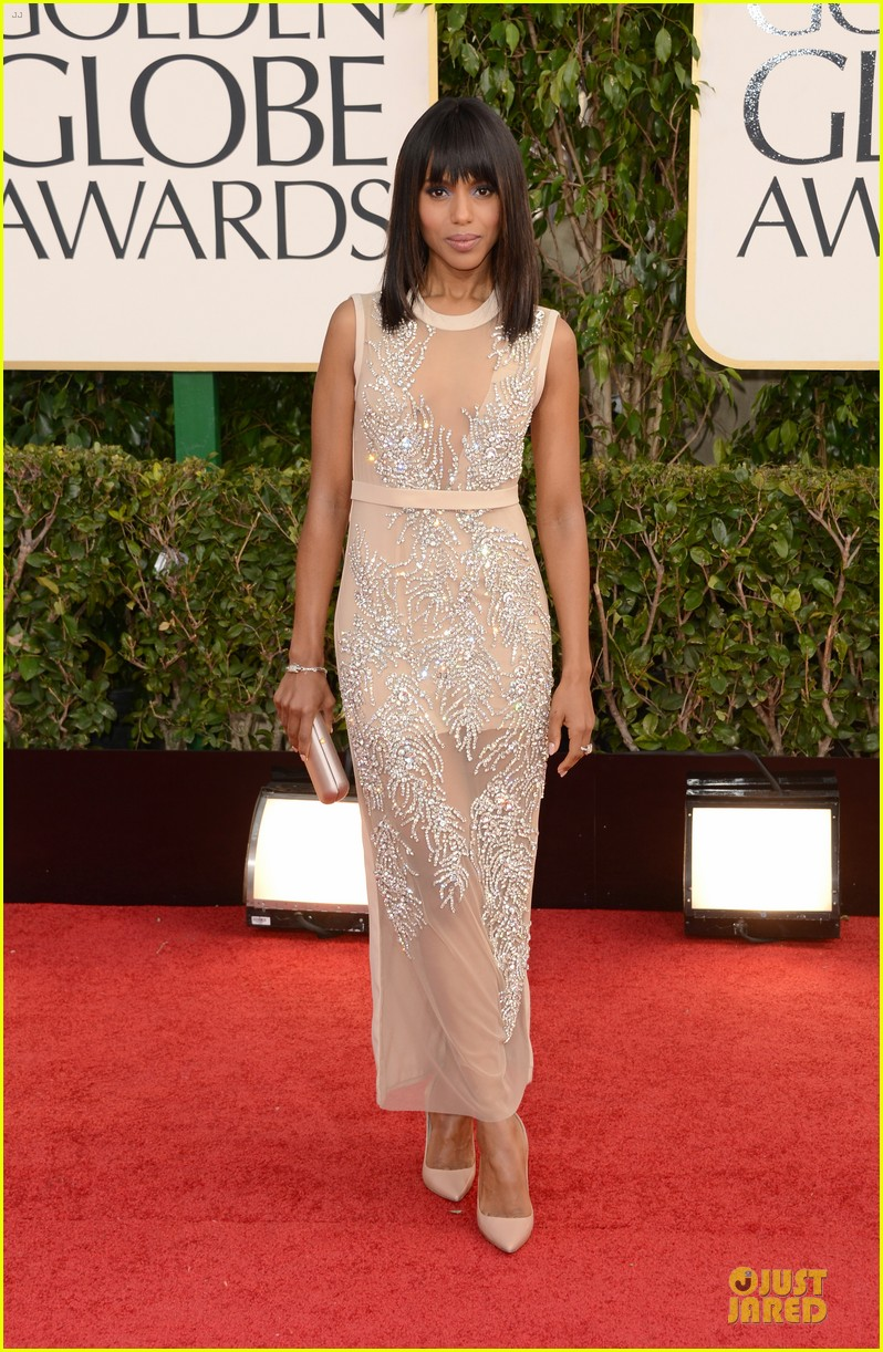 leonardo dicaprio kerry washington golden globes 2013 red carpet 012791216