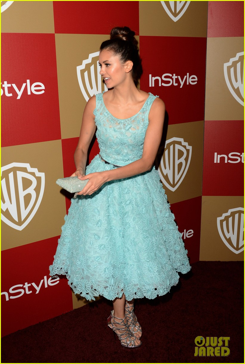 nina dobrev instyle golden globes party 2013 04
