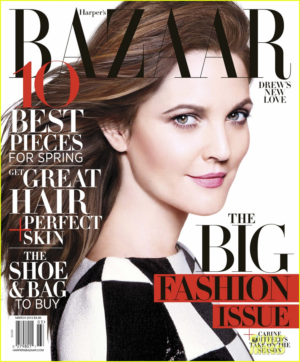drew barrymore covers harpers bazaar march 2013 01