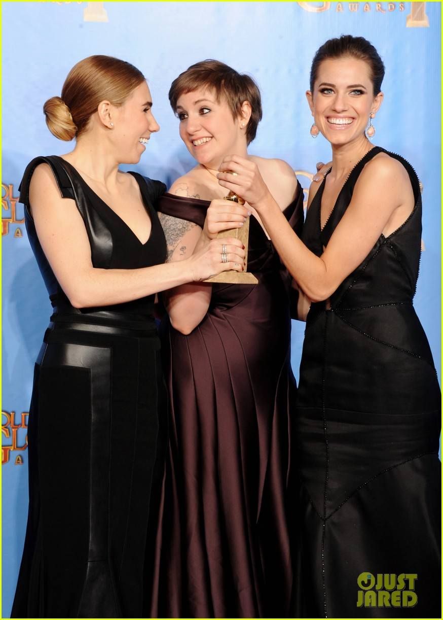 lena dunham girls wins best comedy series at golden globes 2013 13