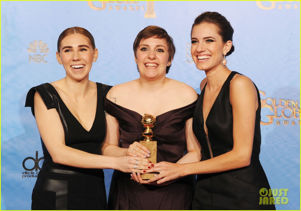 lena dunham girls wins best comedy series at golden globes 2013 15
