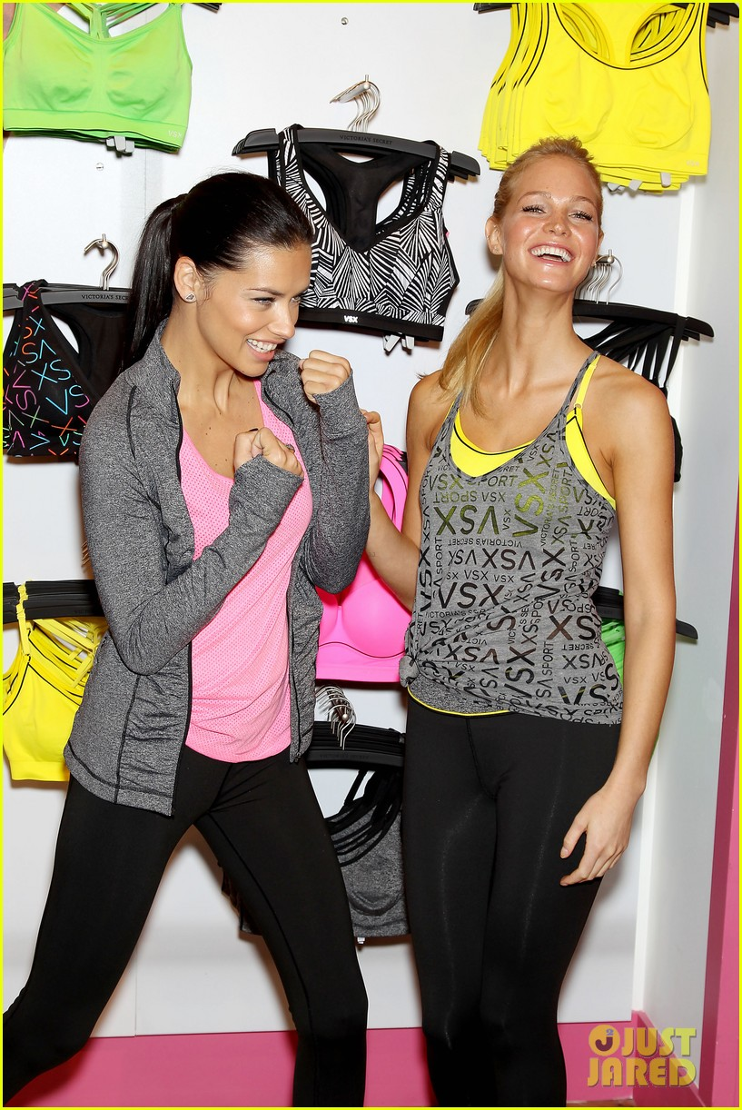 erin heatherton adriana lima victorias secret sport healthy year launch 232792748