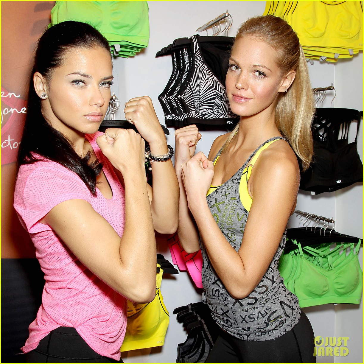 erin heatherton adriana lima victorias secret sport healthy year launch 342792759