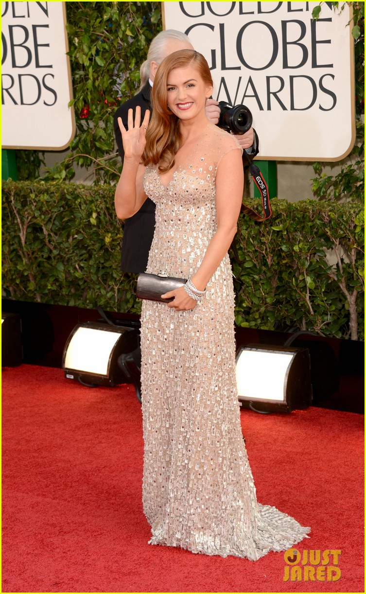 isla fisher golden globes 2013 red carpet 042790893